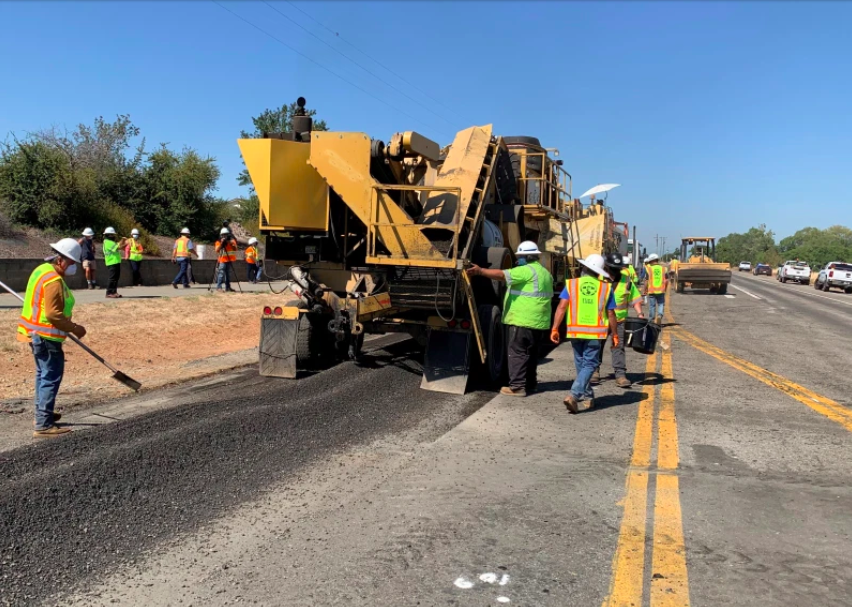 TechniSoil provides recycled plastic asphalt additive to CalTrans project